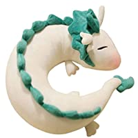 U-Shaped Pillow Plush Pillow Plush Toy, (28cm), Cute Plush Toy, Plush Game Pillow, Little White Dragon, Essential for Lunch Break