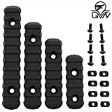 GVN M-Lok Polymer Rail Section 5,7,9,11 Slot Polymer Picatinny/Weaver Rail(4 Pieces Black)