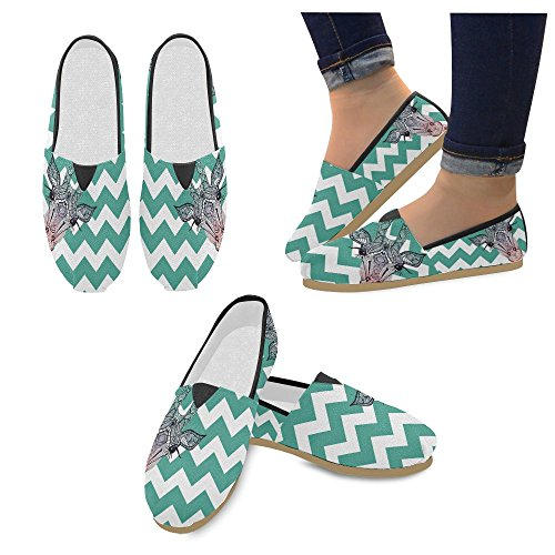Loafers Stripes Giraffe Sneakers and D Shoes Canvas Womens Fashion Story Slip Flats on Classic EYwCEOxUq