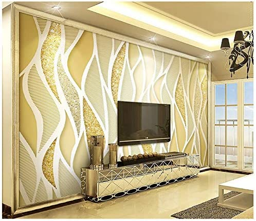 3d Wallpaper Mural Silk Cloth Golden Luxury Gold Glitter Line 3d Stereo Tv Background Wall 400x280cm Ayzr Amazon Com