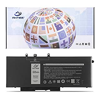 ANTIEE 68Wh GJKNX Laptop Battery Replacement for Dell Latitude 5480 5580 5280 5490 5491 5580 5590 5591 E5480 E5580 E5590 E5490 Precision 15 3520 3530 M3520 GD1JP 0GD1JP DY9NT 0DY9NT 5YHR4 451-BBZG