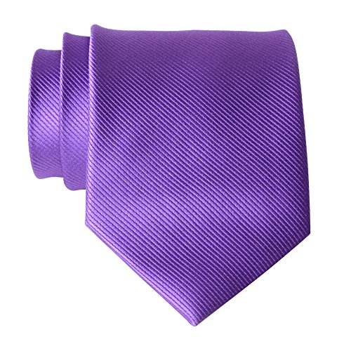 QBSM Mens Purple Lavender Solid Color Necktie Wedding Office Suit Dress Neck - Ties Polyester Lavender