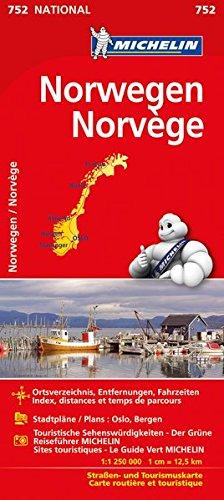 Michelin Norwegen: Straßen- und Tourismuskarte (MICHELIN Nationalkarten, Band 752) Landkarte – 2. März 2017 2067219081 Karten / Stadtpläne / Europa Norwegen / Landkarte Atlas