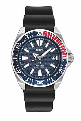SEIKO PROSPEX SRPB53 Automatic Samurai Diver Black Silicone Strap Watch