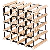 Glasshaus Bottle Timber Wine Rack Wooden Storage System Cellar Organiser Stand (20 Bottles)
