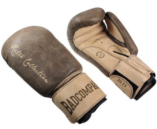 Deluxe Retro Rindsleder Boxhandschuhe braun - Klassische Boxhandschuhe mit Belüftungssystem (Airy-System), 14 Unzen (OZ)