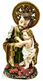 St.Joseph with Infant Jesus Figurine Hand Painted Holyland Statue