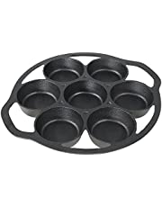 Sunnydaze Pre-Seasoned Black Cast Iron Popover, Cupcake, Drop Biscuit, Muffin and Mini Cake Pan - Heavy Duty Indoor or Outdoor Camping Cookware and Bakeware