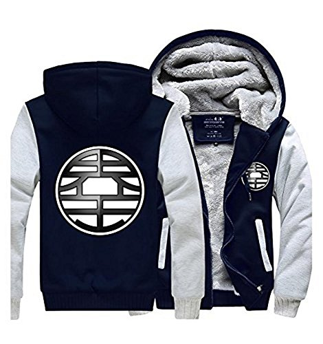 [UU-Style Anime Dragon Ball Z Son Goku Thicken Jacket Fleece Winter Hoodie Coat] (Dragon Ball Z Cell Costume)