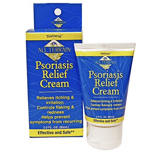 All Terrain Psoriasis Relief Cream 2oz, With Salicylic Acid 3% Anti-Itch & Colloidal Oatmeal & Zinc Oxide Base Formula to Help Relieve