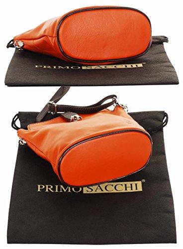 corps En sac petite italien main fait cuir Sacchi Croix effet Front autruche fermoir ou Primo 5qxY67wpq