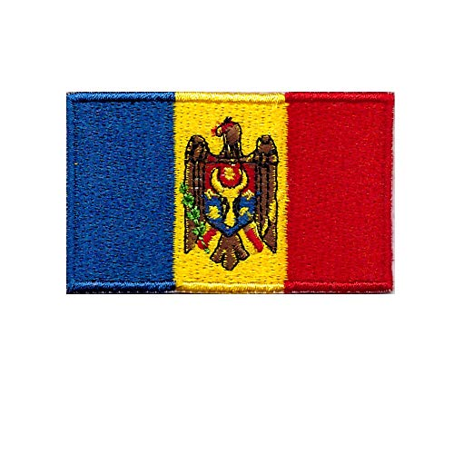 10Pcs New Products Hot Embassy Republic of Moldova Embroidered Embroidery Needlework Sewing Apparel Or Decal Decoration Collage Iron-On Patch Patchwork ()