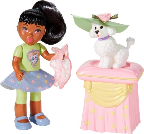 Learning Curve Caring Corners Lil' Miss Poodle Dollhouse AA Figure Set (Lil Miss Dress Up compare prices)