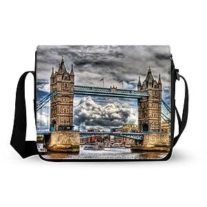 fashionable cute Bridge Of London England Oxford Fabric Messenger Bag,Shoulder Bag