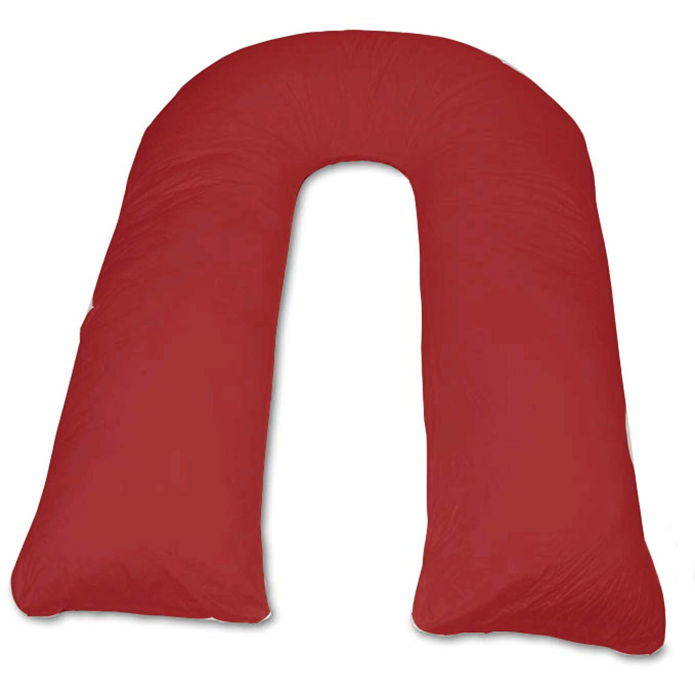 Iyan Linens Ltd 12Ft Large U Pillow Body//Bolster Support Maternity Pregnancy Support Hollow Fibre Pillow Only