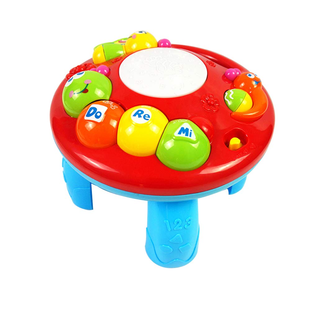 bluederst Lovely Kids Baby Sound Desk Music Cartoon Electric Study Table Educational Intelligence Developmental Toy