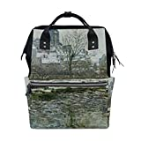 Backpack School Bag Church Snow Monet Canvas Travel Doctor Style Daypack