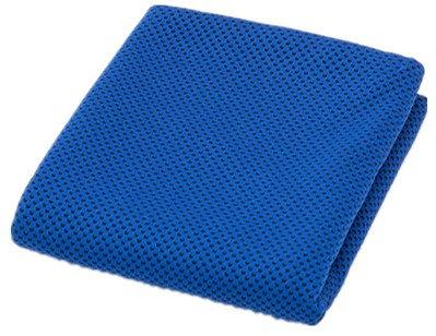 Toalla de enfriamiento instantáneo alivio para deporte fitness y medio ambiente caliente 40'x12' uso como Cool toalla para cuello bufanda (azul) ff4