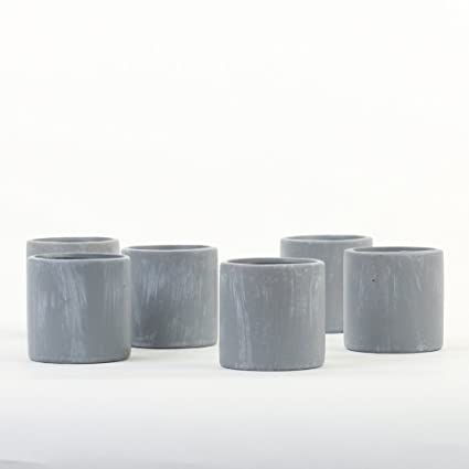 Amazon Koyal Wholesale Concrete Decor Effect Votive Candle Holders 6 Pack For Modern Home Party Favor Kitchen