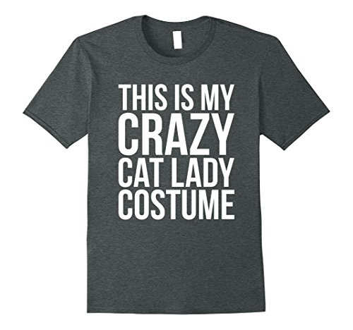 Mens Funny This is My Crazy Cat Lady Costume Halloween T-shirt XL Dark (Crazy Womens Halloween Costumes)