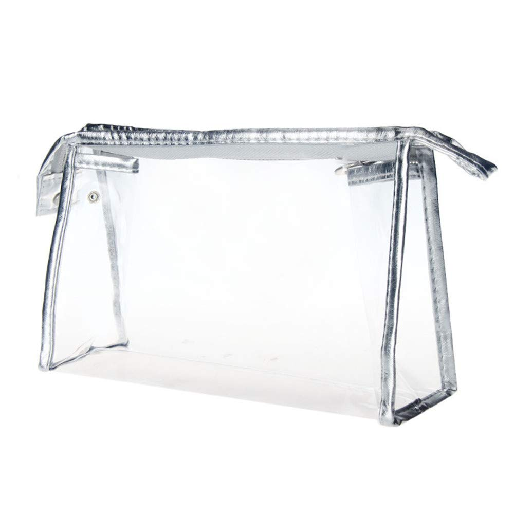 1 PC Portable Clear Waterproof Storage Makeup Bags Mini Cosmetic Pouch (Silver)