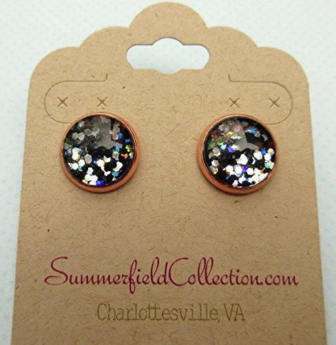 glitter-glass-rose-gold-tone-galaxy-stud-earrings-black-meteor-shower