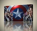 Captain America Civil War Iron Man CANVAS PRINT Wall Art Giclee *4 Sizes* CA212, Large