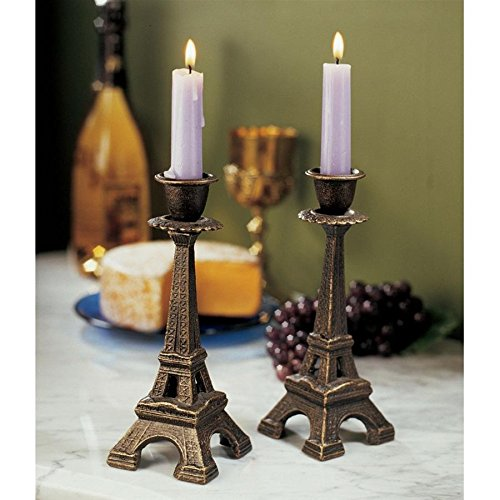 Madison Collection S/2 Eiffel Tower Candle Sticks (Eiffel Candle Sticks Tower)