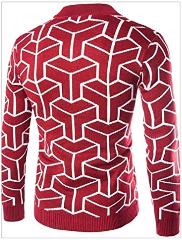 Męska kurtka z dzianiny wiosna jesień nadruk długi rękaw moda męska moda elegancka casual cardigan Knit sweter outwear coat z zamkiem błyskawicznym: Odzież