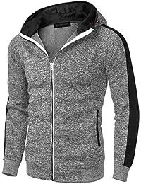 Mens Casual Fashion Zip up Long Sleeve Pocket Hoodie Sweatshirt Jacket