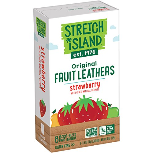 Stretch Island Strawberry Original Fruit Leather Snacks  Vegan | No Sugar Added | Gluten Free | NonGMO | No Sugar Added  05 Oz Strips 8 Count