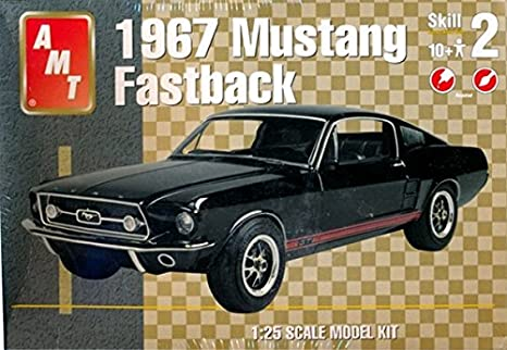 Ford Mustang Fastback >> 31635 Amt 1967 Mustang Fastback 1 24 Scale Plastic Model Kit Needs Assembly