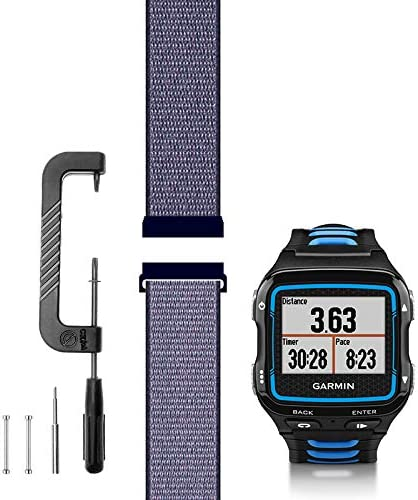 M//L Sport Mesh Strap Nylon Weave Watchband for Sports /& Outdoors C2D Joy Compatible with Garmin Forerunner 310XT Replacement Band with Quick Release Spring Bar and Tool