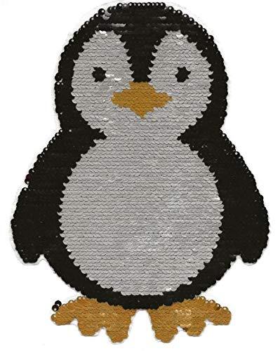 Penguin Patch Iron On, Applique, Patch,Sequins Patch Supplies for Coat,T-Shirt,Costume Decorative Penguin -
