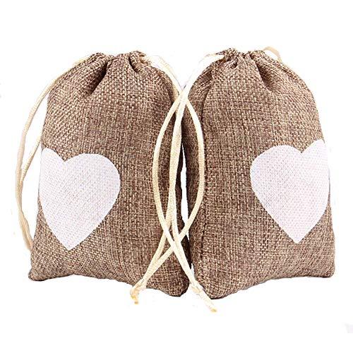 - Advantez 10-Pack Natural Jute Burlap Sacks Favor Bags Jewelry Pouches Rustic Wedding Bridal Shower
