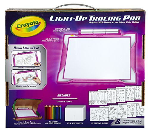 Crayola Light Up Tracing Pad Pink Coloring Board For Kids