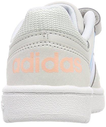 adidas Unisex-Kinder Vs Hoops 2.0 CMF C Gymnastikschuhe Mehrfarbig (Grey One F17/aero Blue S18/ftwr White)