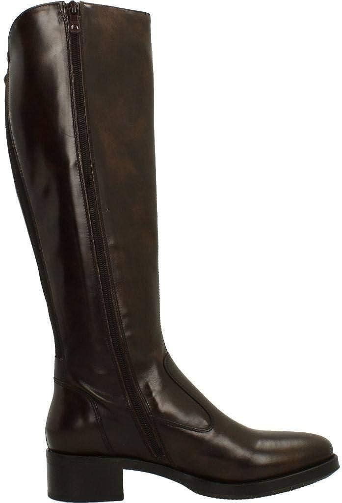Nero Giardini Scarpe Donna Stivali in Pelle nera A807030D/100 Marron