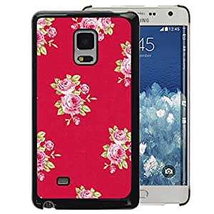A-type Arte & diseño plástico duro Fundas Cover Cubre Hard Case Cover para Samsung Galaxy Mega 5.8 (Rose Pattern Pink Lilac Purple Red)