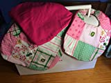 John Deere Bib and Burp Cloth Set