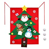 Aytai Christmas Felt Bean Bag Toss Games with 3 Snow Bags Christmas Game for Kids Party Christmas Decorations