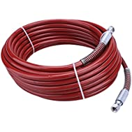 Gracelove--[US Stock]--Airless Paint Sprayer Hose 15m / 50ft x1/4  3300 PSI High Pressure Hose Red