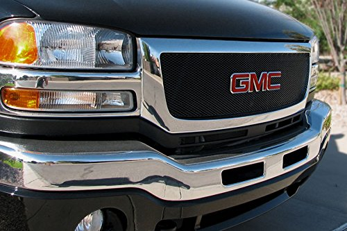 - Grillcraft GMC2013B MX Series Black Upper 1pc Mesh Grill Grille Insert for GMC Sierra