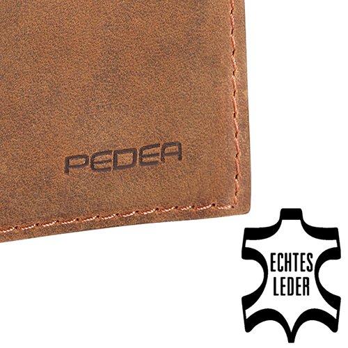 Pedea Echtleder Tennessee Tasche für Apple iPhone 6 tobacco brown