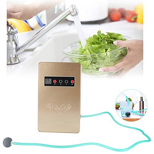 Ozone Generator, 220V 50Hz 600mg/h Ozone Generator Ozonator Sterilizer for Household Water Food Vegetable Disinfecting (Gold)
