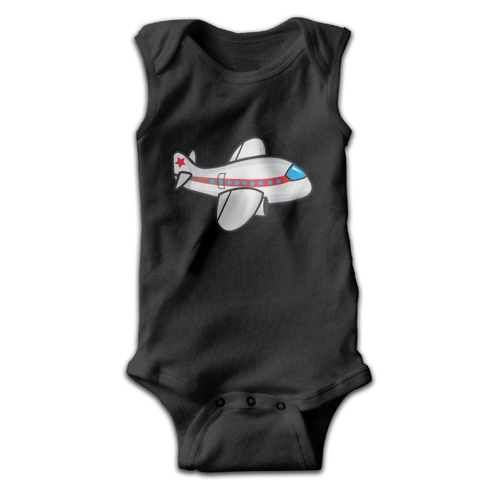 Midbeauty Cool Cartoon Airplane Newborn Infant Baby Summer Sleeveless Bodysuit Romper Jumpsuits Playsuit