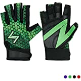 Workout Gloves Women by Handlz | MORE REPS w/Rubber Grip & Extended Fingers | NO SWEAT w/Flexible Dry-Fit Material | Weight Lifting Gloves for Crossfit, WOD, Cross Training Exercises (Green Small)