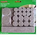 Laminate / Wooden Floor Furniture Protection Pads Pack of 27 (various shapes) by SupaFix