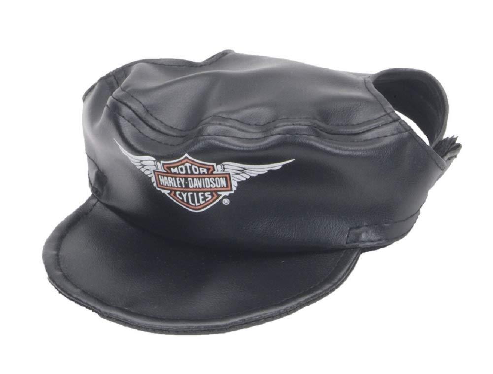 Harley-Davidson Winged Bar /& Shield Pet Cap Black Vinyl X-Small H2500-H-BK1XSM