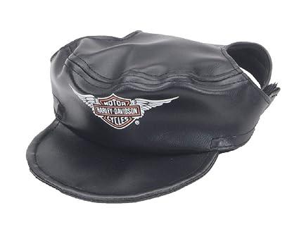 Amazon.com   Harley-Davidson Winged Bar   Shield Pet Cap Black Vinyl ... 28ded4fdaf8